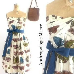 Anthropologie Maeve LEPIDOPTERA Butterfly Dress